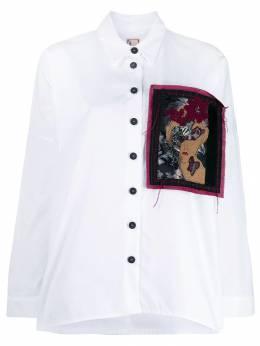 Antonio Marras рубашка свободного кроя с нашивкой LB1018D32