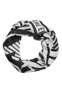 Черный шарф с контрастной отделкой Emporio Armani 2706154245