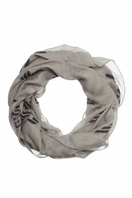 Серый шарф с контрастной отделкой Emporio Armani 2706154246