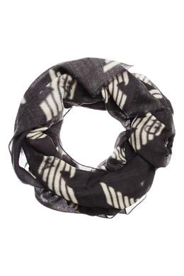 Черный шарф с логотипами Emporio Armani 2706154257