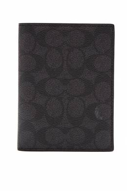 Обложка на паспорт серого цвета Coach 2219157016