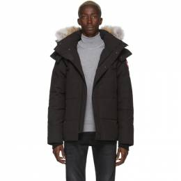 Canada Goose Black Down Wyndham Jacket 3808M