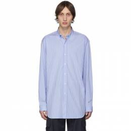 Vetements Blue and White Stripe Anarchy Shirt UAH20SH704