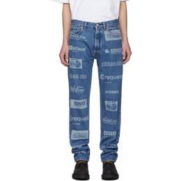 Vetements Blue Fully Branded Jeans MAH20PA029