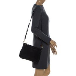 Prada Black Tessuto Nylon and Leather Crossbody Bag 322480