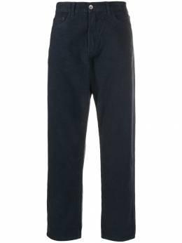 Ymc зауженные фактурные брюки P4MAD