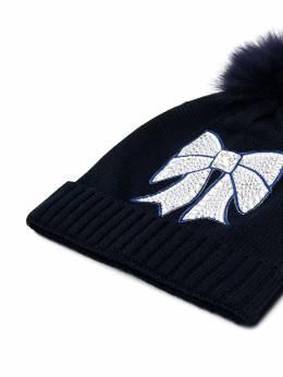 Monnalisa - embellished bow detail hat 66656089596356800000