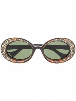 Gucci Eyewear декорированные солнцезащитные очки GG0618S
