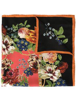 Dolce&Gabbana платок с цветочным принтом и логотипом FN092RGDR57
