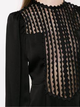 Reinaldo Lourenco long sleeved mid dress 23111340
