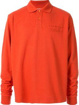 Martine Rose рубашка-поло с длинными рукавами CMRAW19902A