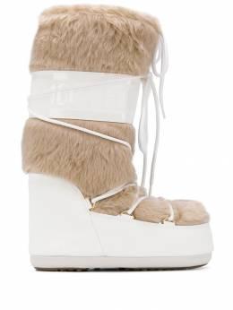 Moon Boot сапоги с контрастной шнуровкой 14089000