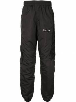 Doublet спортивные брюки с вышитым логотипом 19AW03PT98