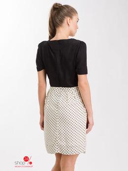 Платье La Reine Blanche, цвет черный, белый 1078401