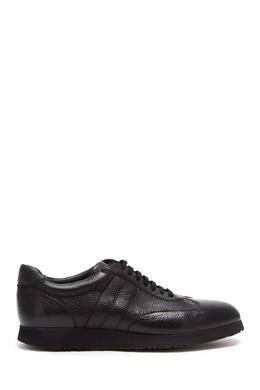 Черные кожаные кеды Moreschi 2315156882