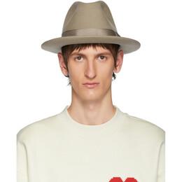 Ami Alexandre Mattiussi Beige Merino Felt Hat 192482M13901001GB