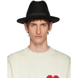 Ami Alexandre Mattiussi Black Merino Felt Hat 192482M13901101GB