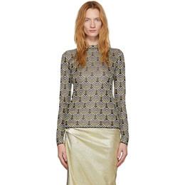 Paco Rabanne Black and Silver Lurex Sweater 19AMPU024ML0019