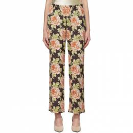 Paco Rabanne Multicolor Satin Roses Trousers 19ACPA019PO0003