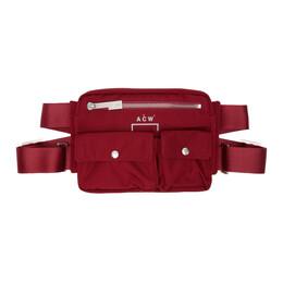 A-Cold-Wall* Burgundy Abdomen Bag ACW-MF19-LBBC01
