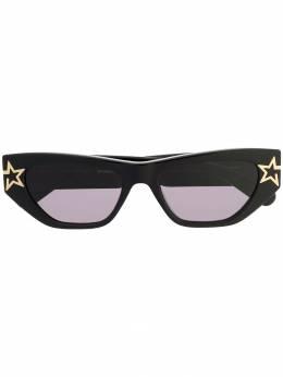 Stella Mccartney Eyewear солнцезащитные очки в декорированной оправе SC0209S