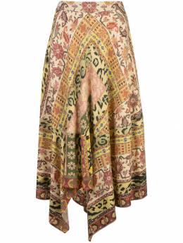 Etro юбка миди с принтом 177015176