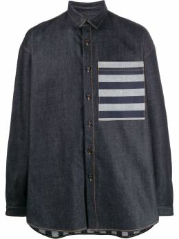 Sunnei рубашка с контрастным карманом OS02
