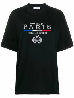 Balenciaga футболка с вышитым логотипом 594599TGV48
