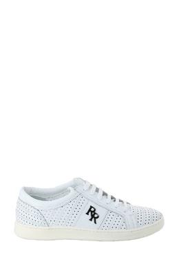 Белые кожаные кеды с перфорацией Roberto Rossi 2995157851