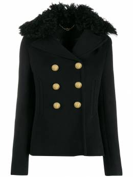 Paco Rabanne короткая куртка с воротником из овчины 19HCMA028LA0234
