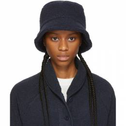Ymc Navy Sherpa Fleece Bucket Hat QHMAA