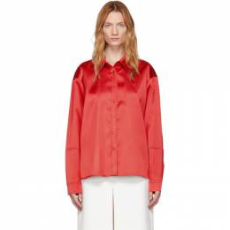 We11Done Red Satin Shirt WD-BL5-19-081-RD