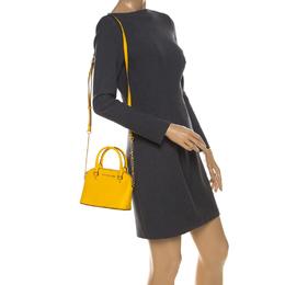 Michael Kors Yellow Leather Mini Emmy Cindy Crossbody Bag 230744