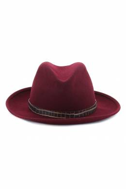 Бордовая шляпа с декором Patrizia Pepe 1748158360