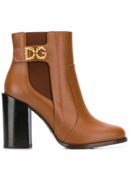 Dolce&Gabbana ботильоны с логотипом DG Amore CT0587A3444