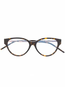 Saint Laurent Eyewear очки SLM48AF в овальной оправе черепаховой расцветки