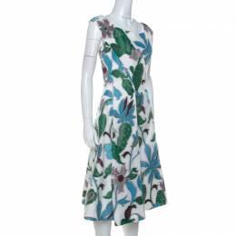 Tory Burch White Floral Fil Coupé Short Wisteria Dress S 234563