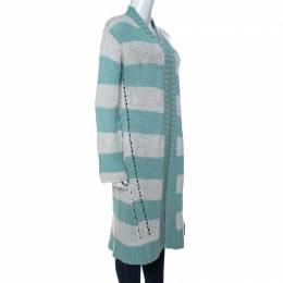 Zadig & Voltaire Bicolor Striped Cashmere Romy Raye Deluxe Cardigan S 234570