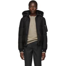Saint Laurent Black Down Silk Jacket 587776Y983V
