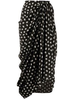 Isabel Marant юбка миди с цветочным принтом JU105319H026I