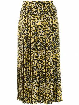 Gucci плиссированная юбка с леопардовым принтом 569494ZACAT