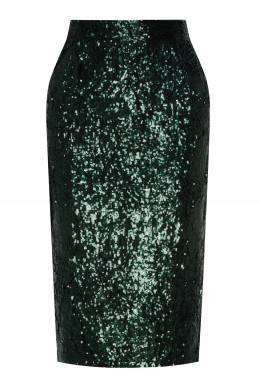 Зеленая юбка-карандаш с пайетками No. 21 35157700