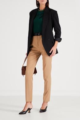 Камелевые брюки со складками у пояса No. 21 35157718