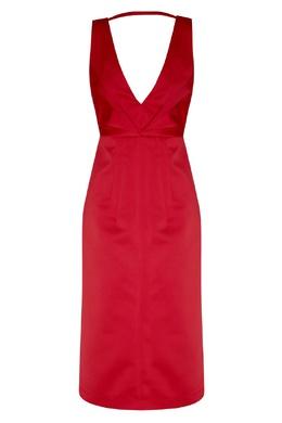 Красное платье с V-образным вырезом No. 21 35157715