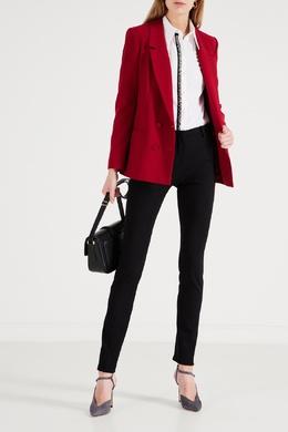 Черные брюки со складками у пояса No. 21 35157723