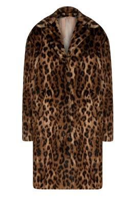 Пальто из искусственного меха леопардовой расцветки No. 21 35157725