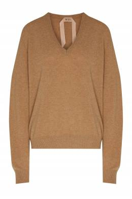 Бежевый пуловер из шерсти с кашемиром No. 21 35157732