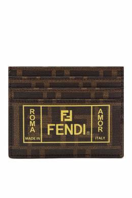 Коричневый картхолдер с монограммами Fendi 1632157864