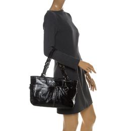 Coach Black Patent Leather Shoulder Bag