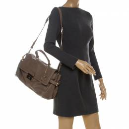Aigner Light Brown Leather Top Handle Bag 229906
